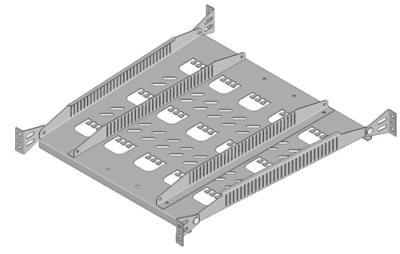 19'', Кронштейн-органайзер для открытых монтажных стоек, серый RAL7032