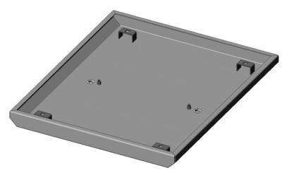 19'', Крышка для открытой монтажной стойки универсальной, 483x400 мм, серая RAL 7032