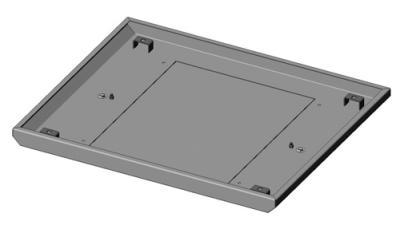19'', Крышка для открытой монтажной стойки универсальной, 483x600 мм, серая RAL 7032