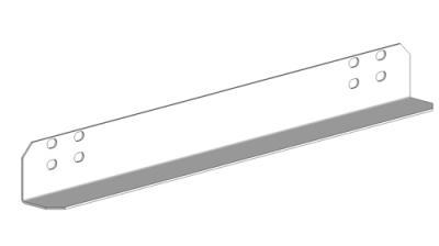 19'', Поддержка для тяжёлого оборудования, глубина 400 мм, чёрная RAL 9005