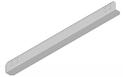 19'', Поддержка для тяжёлого оборудования, глубина 600 мм, чёрная RAL 9005 (комплект из 2-ух штук)