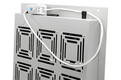 Блок вентиляторов, потолочный, с терморегулятором, 06 элементов, серый RAL7032