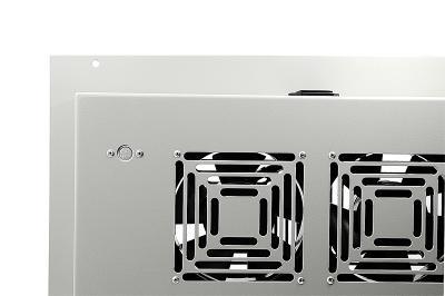Блок вентиляторов, потолочный, с термореле, 04 элемента, серый RAL7032