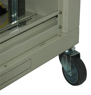 Ролики усиленные для напольных шкафов с тормозом  (комплект из 2шт.)