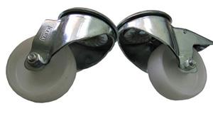 Ролики усиленные для открытых монтажных стоек (комплект из 4 шт.)